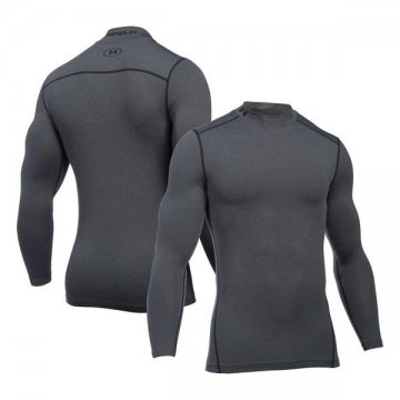 Men's Long Sleeved Compression T-shirt Under Armour 1265648-090 Sivá - XL